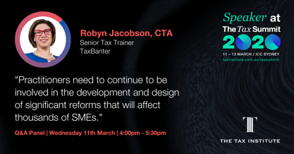 Robyn Jacobson outlines the key tax changes impact SMEs in 2020.