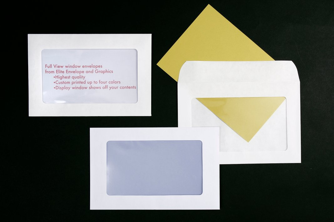 elite envelope full view window envelopes