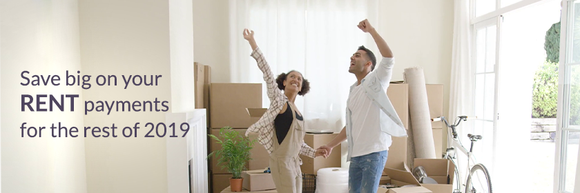 Save big on your rent payment for the rest of the year