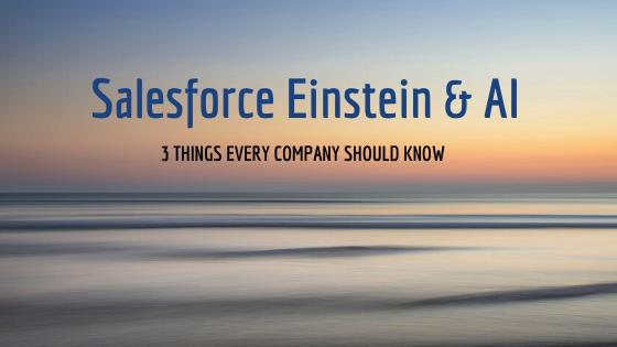 Salesforce Einstein and AI