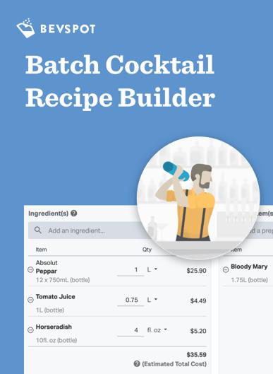 Free Batch Cocktail Recipe Builder