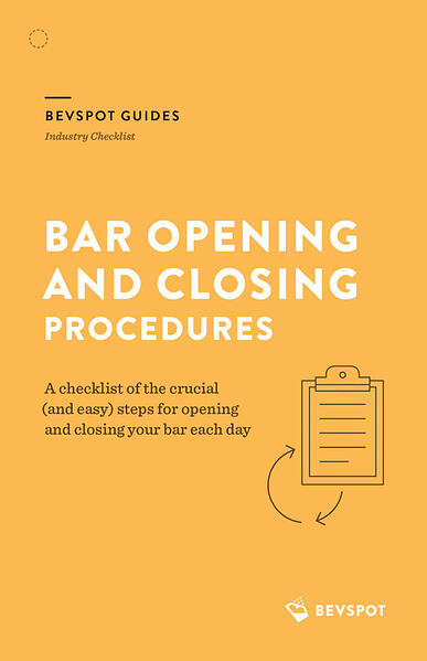 Bar Opening and Closing Procedures