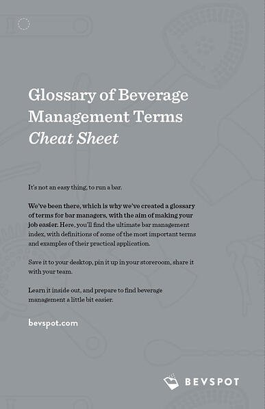 Glossary of Beverage Management Terms