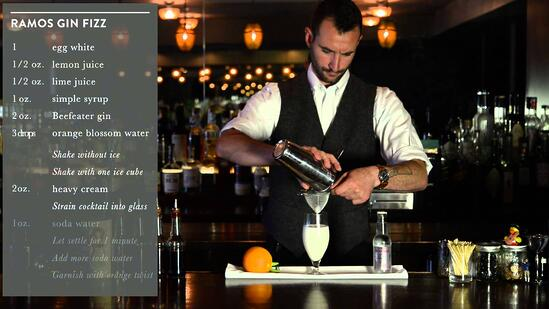 Crafting Cocktails: Ryan Lotz's Ramos Gin Fizz