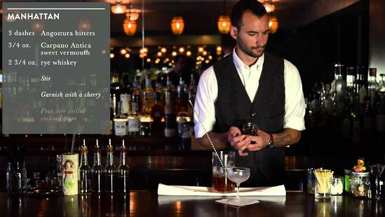 Crafting Cocktails: Ryan Lotz's Manhattan