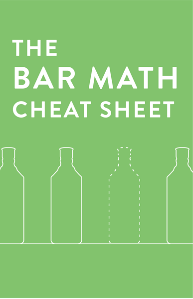 The Bar Math Cheat Sheet