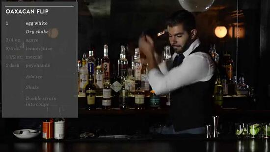 Crafting Cocktails: Paulo Pereira's Oaxacan Flip