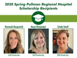 Pullman Regional Hospital Foundation Awards $6,000 in Scholarships