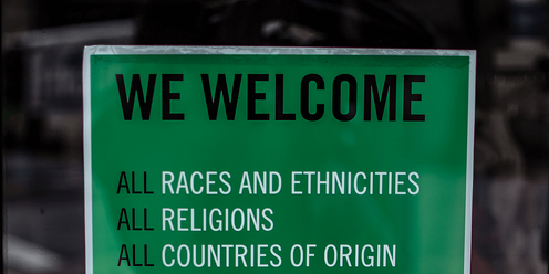 Welcoming Diversity Sign
