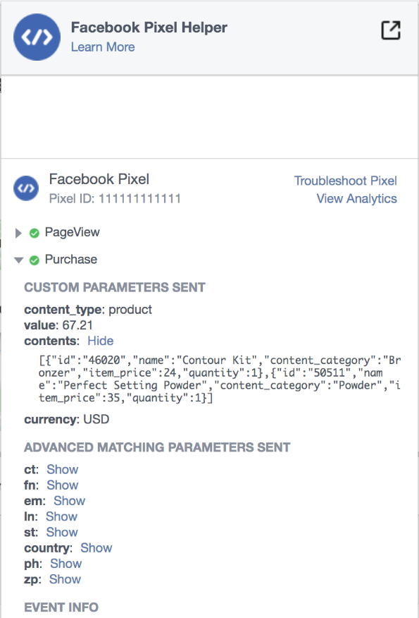 New FB Transaction Reporting