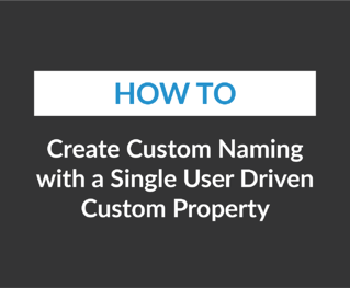 Create Custom Naming with a Single User Driven Custom Property
