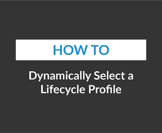 Dynamically Select a Lifecycle Profile