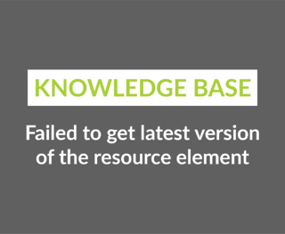 Failed to get latest version of the resource element