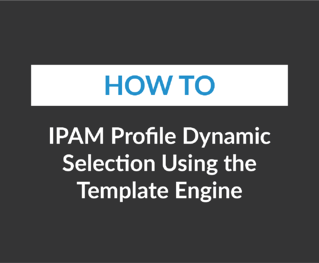 IPAM Profile Dynamic Selection Using the Template Engine