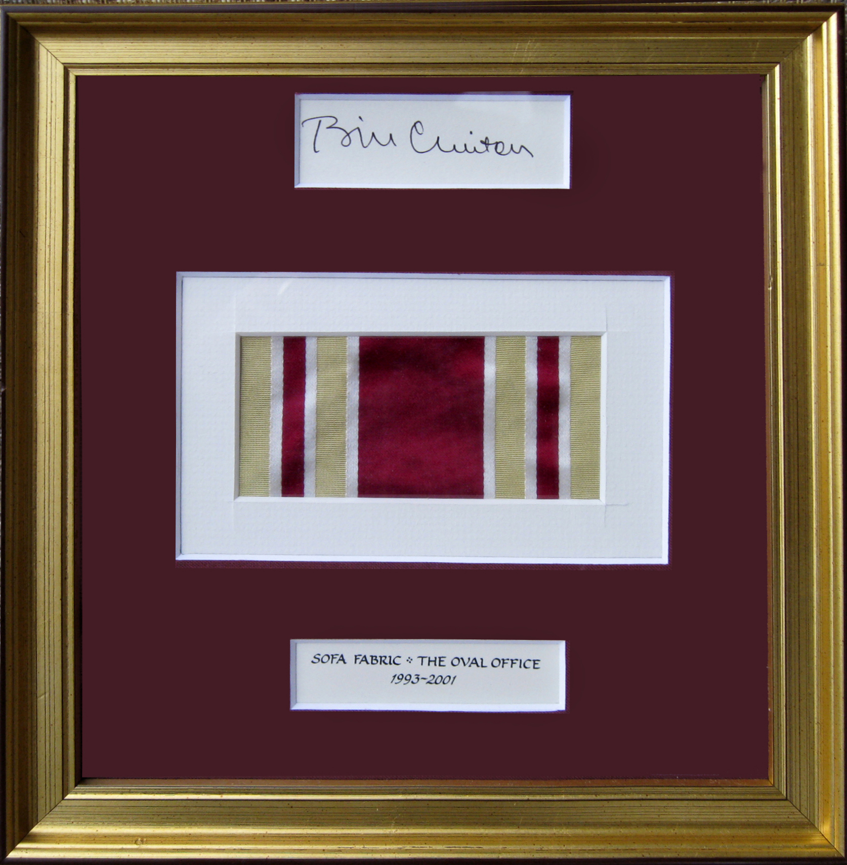 president bill clinton a piece of the oval office sofa fabric bill clinton oval office