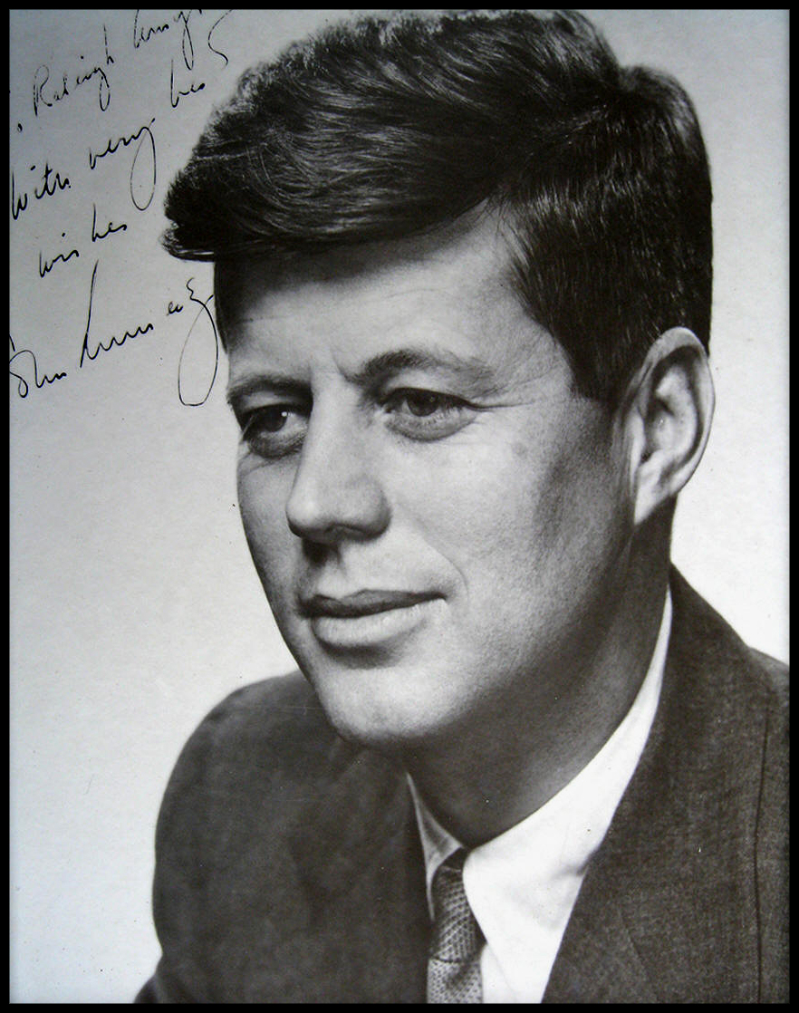 john f. kennedy|raleigh degeer amyx and jfk|american heritage and jfk|