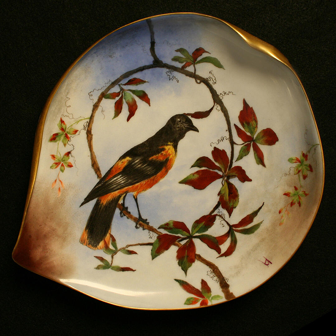 hayes white house china plate