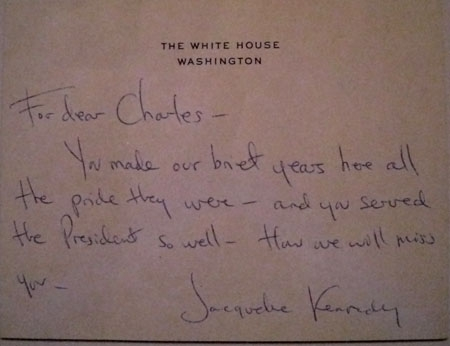 Letter from Jacqueline Kennedy