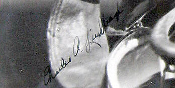 charles lindberg signed photograph|raleigh degeer amyx|the spirit of st. louis|the american heritage collection|