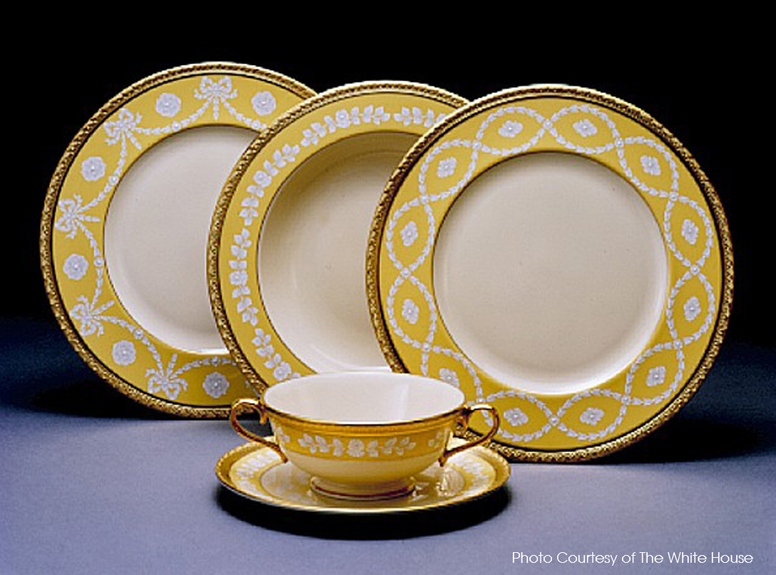 clinton white house china