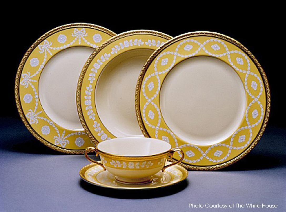 clinton white house china
