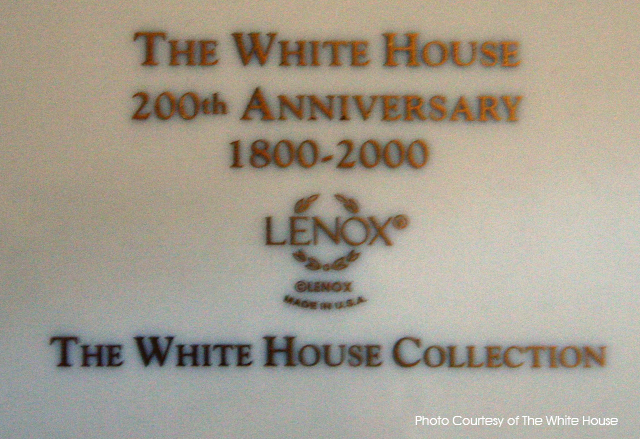 bill clinton white house china verso marking