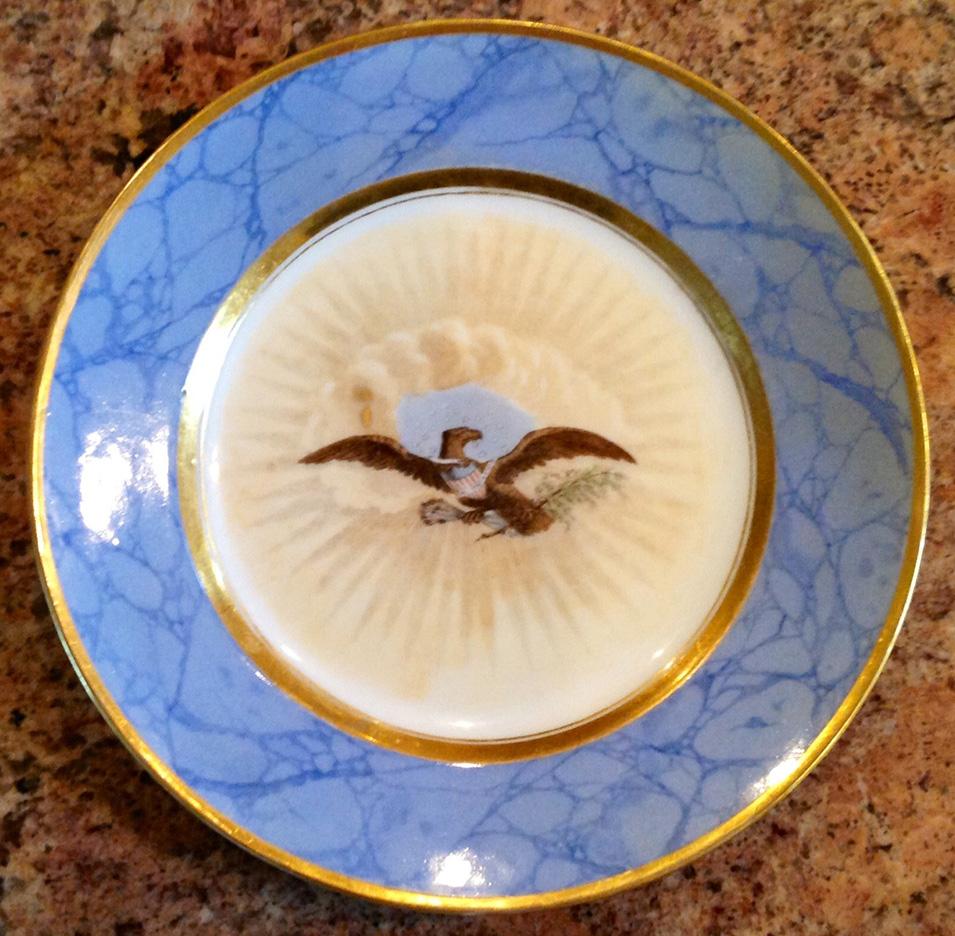 james monroe white house china dessert plate