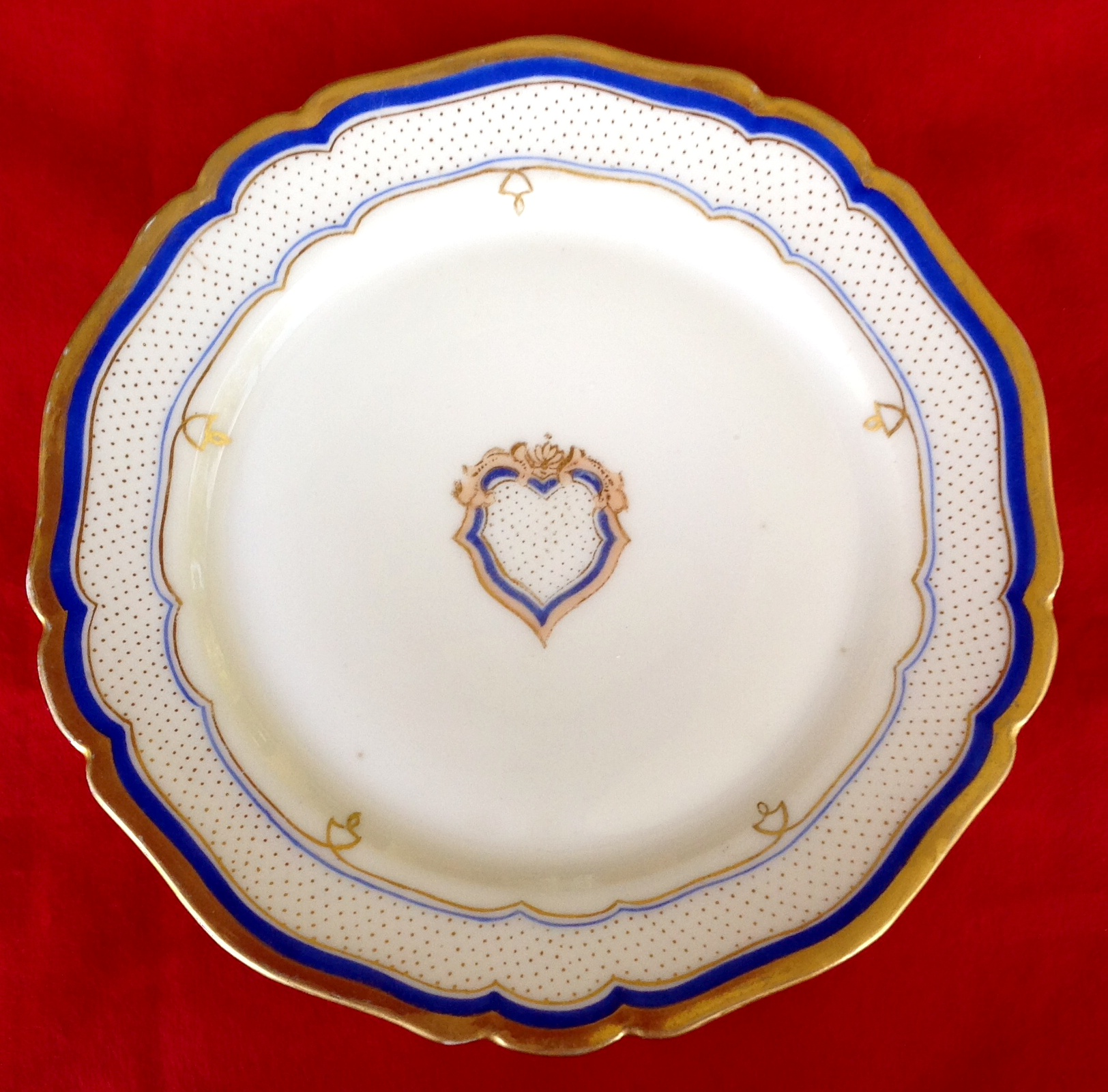 pierce white house china plate