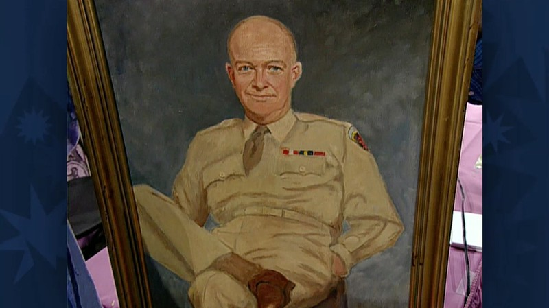 Eisenhower self-portrait