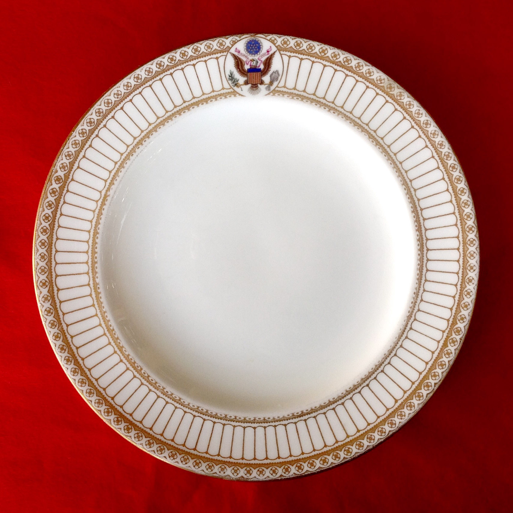 A fish plate from Theodore Roosevelt's White House china