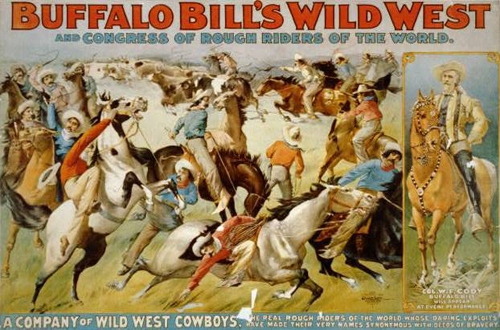 buffalo bill wild west show,buffalo bill, w.f.cody,raleigh degeer amyx,