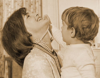 jackie kennedy & son|jackie& jfk jr.|raleigh degeer amyx|the raleigh degeer amyx collection|the american heritage collection|
