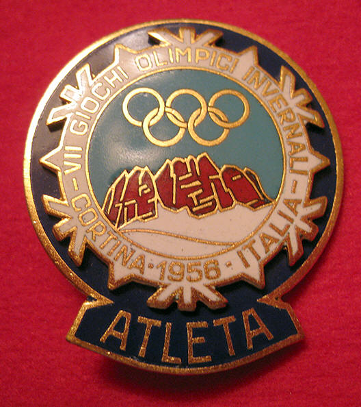 1956 OLYMPIC COMPETITORS PIN|1956 OLYMPIC ATHLETES PIN|RALEIGH DEGEER AMYX|THE RALEIGH DEGEER AMAYX COLLECTION|THE AMERICAN HERITAGE COLLECTION|