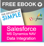 salesforce ms dynamics nav data integration solution