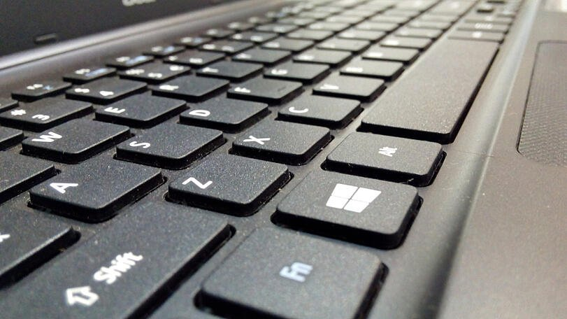 closeup windows keyboard pc