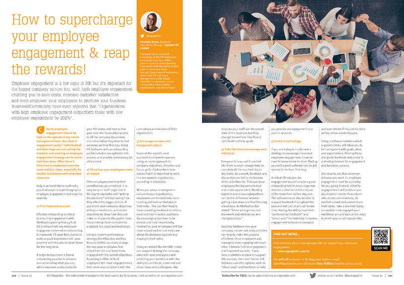 XU Magazine - Issue 21 - Appogee HR
