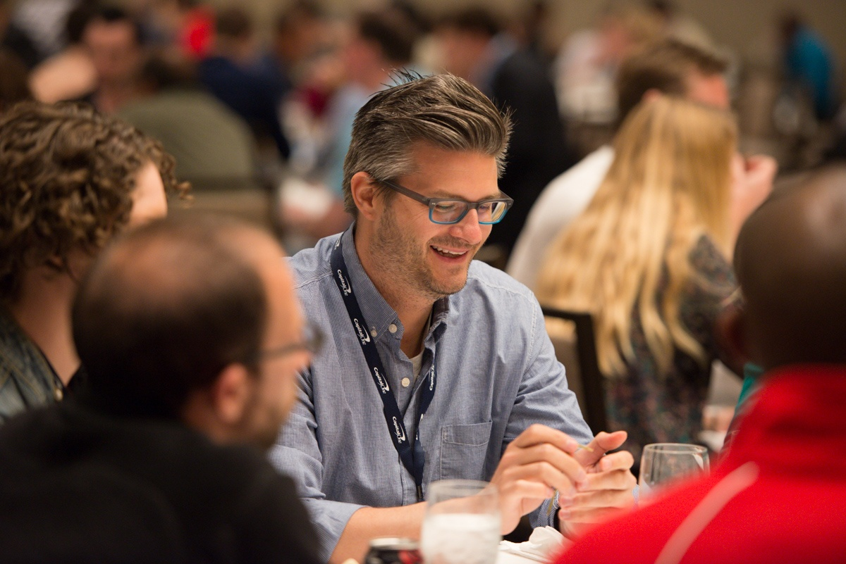 Image of smiling attendee