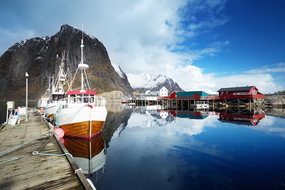 boats, Lofoten islands, Norway