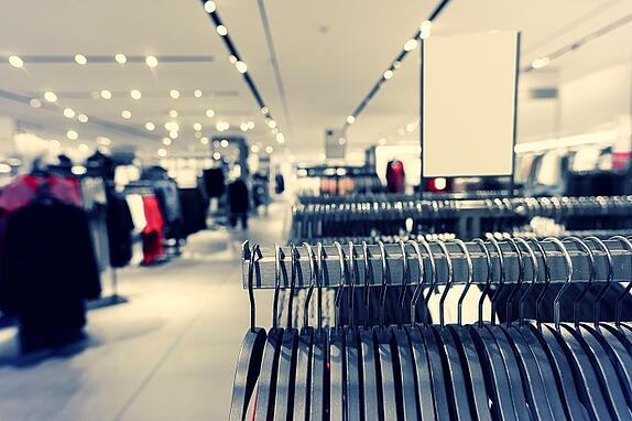 Inside a clothing shop as part of retail industry market research