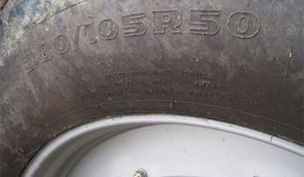 pneus de tracteur lire les indications