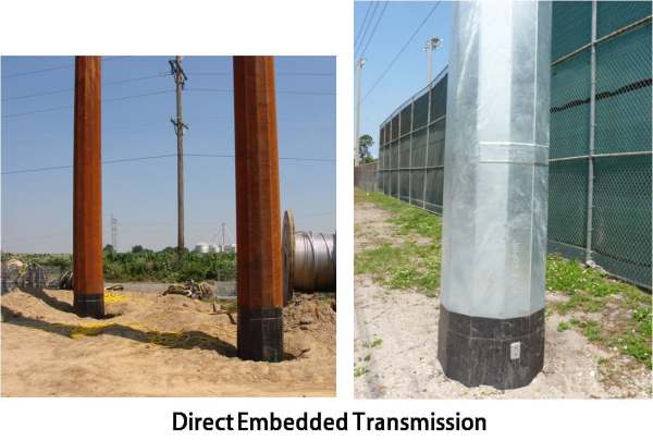 direct embedded transmission pole