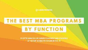 01 The Best MBA Programs by Function
