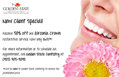 New Client Special - 50% Zirconia Crown Restorative Service!