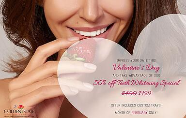 Valentine's Day Teeth Whitening Special - $199 (Originally $400!)