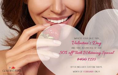 Valentine's Day Teeth Whitening Special - $199 (Originally $400!)