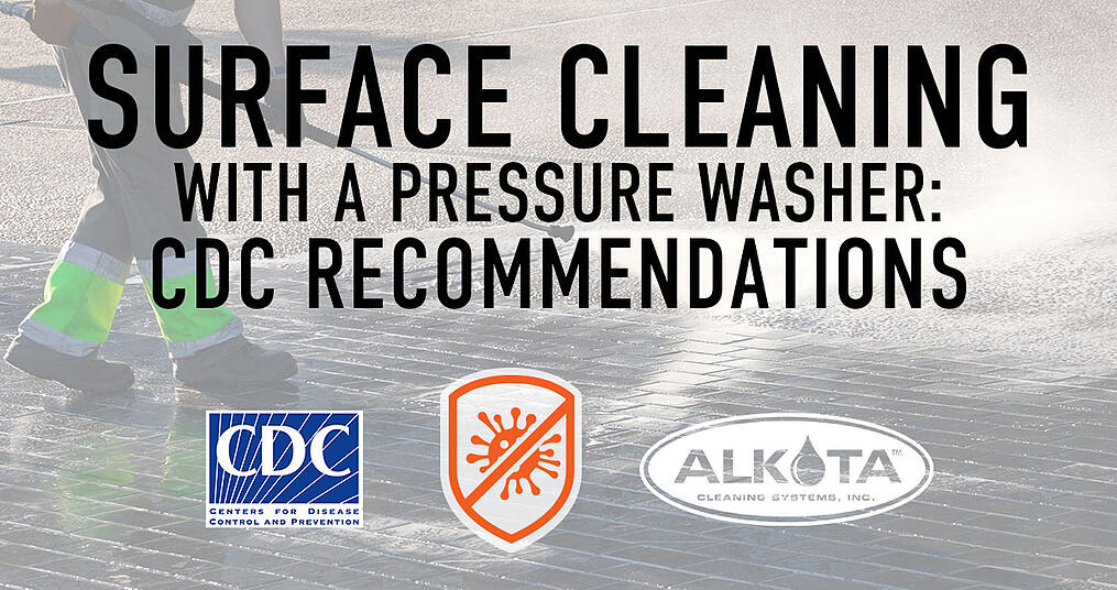 surface cleaning with hot water pressure washer