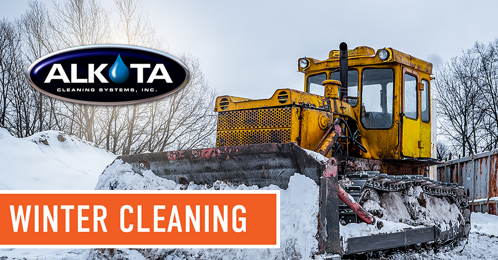 cleaning equipment in the winter