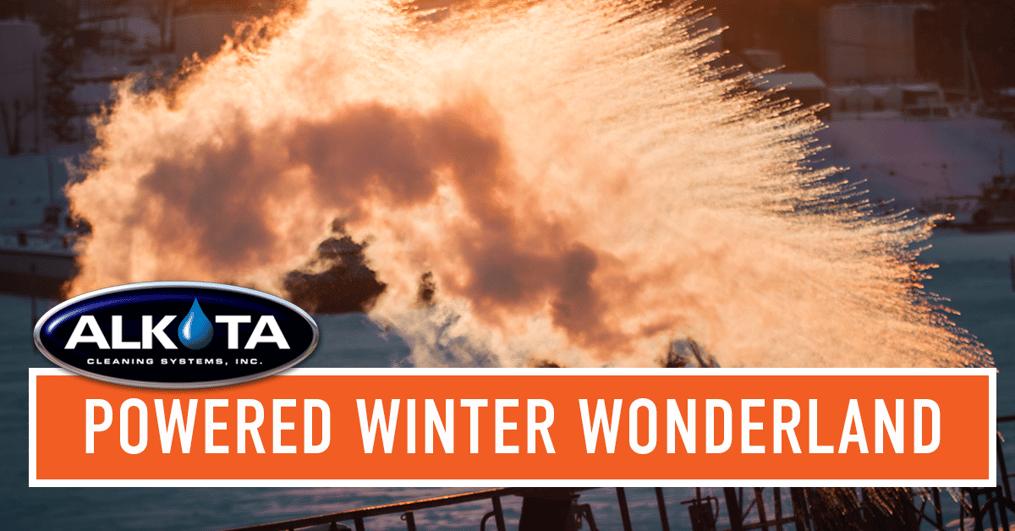 winter wonderland with Alkota pressure washer