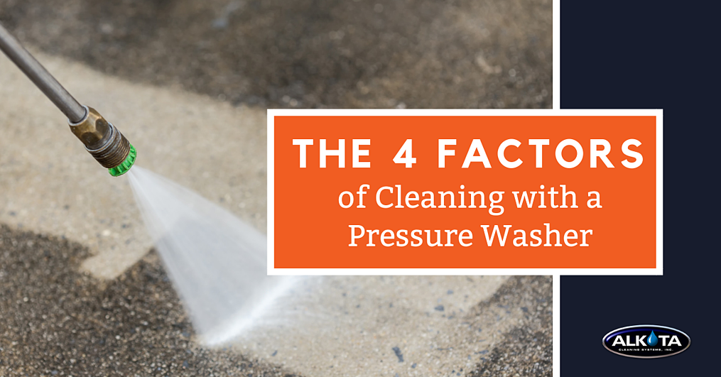 Four Factors of Cleaning with a Pressure Washer - FB