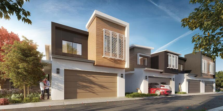 PARC DEVELOPMENT - Townhouse Exterior render BY003 - -1